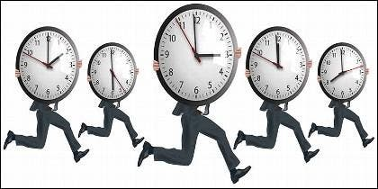 Horario, reloj, tiempo y fichar en la empresa.