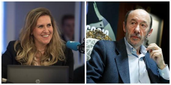 Cristina López Schlichting rescata un olvidado y tenso rifirrafe con Pérez Rubalcaba