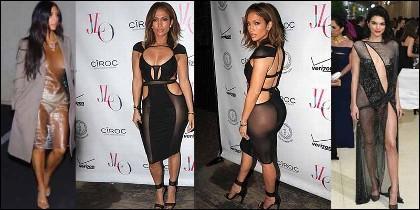 Kim Kardashian, Jennifer Lopez y Kendall Jenner.
