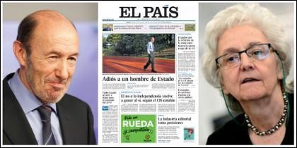 Alfredo Pérez Rubalcaba y la portada que se marca Soledad Gallego-Díaz en El País, su decapitadora en el Consejo editorial.