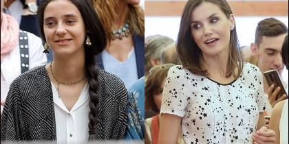 Victoria Federica y la Reina Letizia, en dos imágenes recientes.