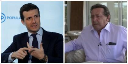 Pablo Casado y Alfonso Ussía.