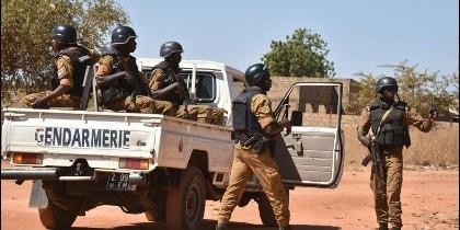 La Gendarmería de Burkina Faso en el norte del país.