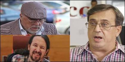 Pepe Villarejo, Pablo Iglesias y Carlos Enrique Bayo.
