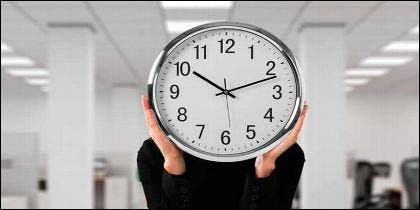 Horario, empleo, empresa, trabajo, fichar y horas extra.