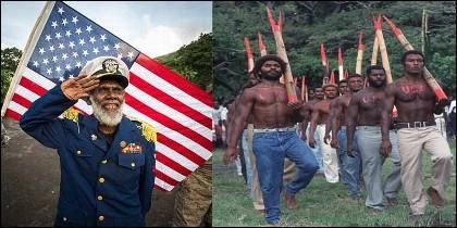 Los nativos de la isla de Tanna, en Vanuatu, esperan a John Frum.