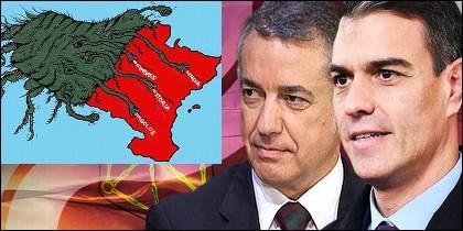 Urkullu (PNV), Sánchez (PSOE) y la 'absorción' de Navarra por el País Vasco.