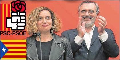 Meritxell Batet y Manuel Cruz (PSC-PSOE).