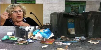 Carmena y la suciedad en las calles de Madrid.