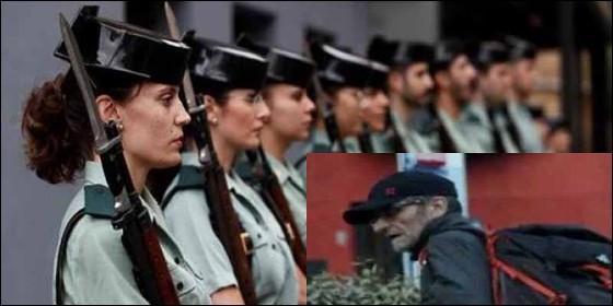 Agentes femeninos de la Guardia Civil y el etarra Josu ternera.