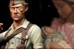 Legionario y mujer con niño