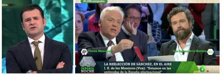Iñaki López permite los insultos a Vox por parte del separatista Mascarell.