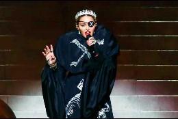 Madonna actuando en Eurovisión