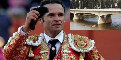 El Torero Antonio Ferrera y el Puente de la Autonomía.