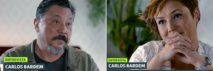 Carlos Bardem da opiniones que no interesan a nadie y Cristina Pardo le mira embelesada.