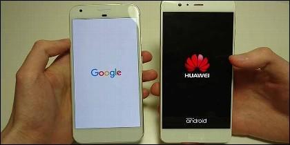 Móvil: Huawei P10 Plus contra el Google Pixel XL.