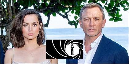 Ana de Armas y Daniel Craig, en James Bond.