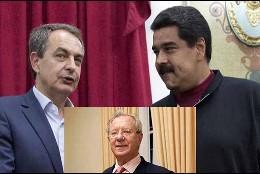 Zapatero, Maduro y Raúl Morodo.