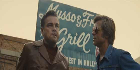 Brad Pitt y Leonardo Di Caprio en el nuevo film de Tarantino