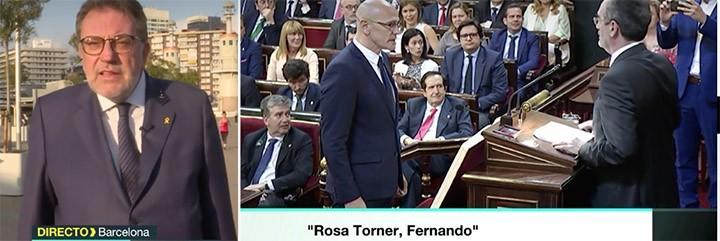 Josep Lluís Cleríes lloriqueando en laSexta por lo que les han hecho en Congreso y Senado.