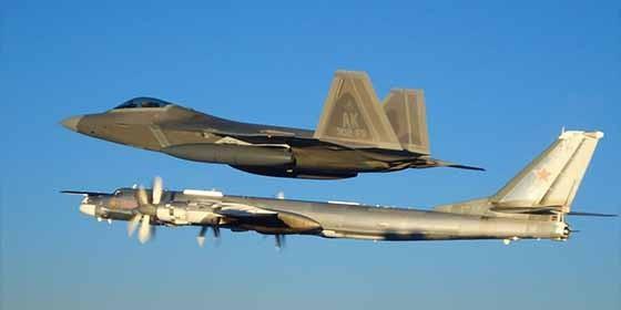 El lunes 20 de mayo de 2019 los F22 estadounidenses interceptaron los Su 25 ruso