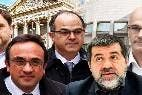 Los 'golpistas' catalanes, encabezados por Oriol Junqueras, en el Congreso de los Diputados.