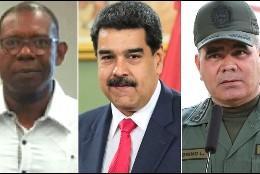 Christopher Figuera, Nicolás Maduro y Vladimir Padrino