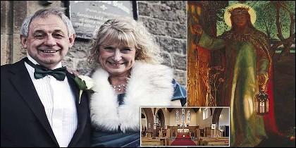 La reverenda Lissa Scott con su marido, el alcalde Nigel Scott.