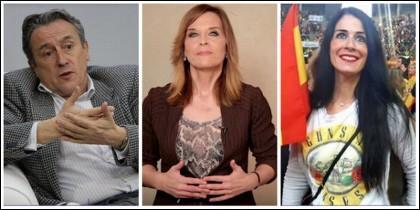 Hermann Tertsch, Luz Sánchez-Mellado (El País) y Carla Toscano (Vox)