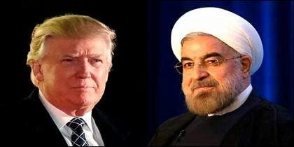 Donald Trump y Hassan Rouhani