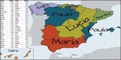 Los nombres de los españoles.