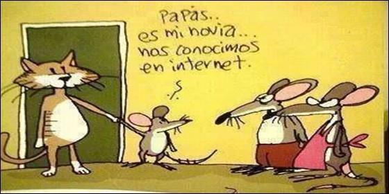 Humor: los contactos y amores en las redes sociales de Internet.