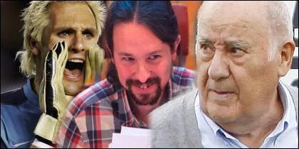 Cañizares, Iglesias y Amancio Ortega