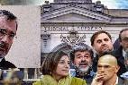 Manuel Cruz (PSC-PSOE) y los golpistas catalanes procesados en el Tribunal Supremo.