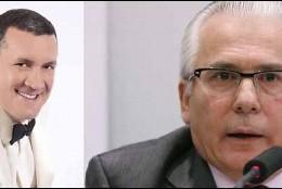 Baltasar Garzón y el chavista Diego Salazar.