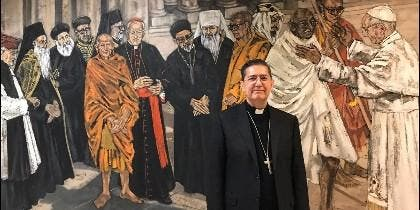 El obispo Miguel Ángel Ayuso Guixot.