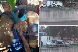 Cuerpos apilados en un camión en México