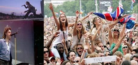 Más de cinco millones de personas vieron los conciertos «Live 8» a través de internet