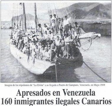 Emigrants espanyols a Veneçuela, 1949