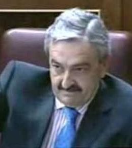 Andrés Ayala en su escaño