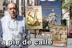"""Conversación entre Antonio Herrera Casado y Juan Pablo Mañueco sobre realismo simbólico, """"Viaje por Guadalajara"""" y Castilla como nación, nacionalidad o región"""