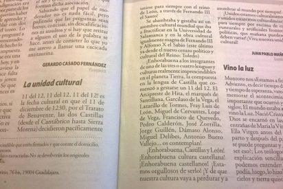 La unidad cultural de las dos Castillas y León. 11-12-1230