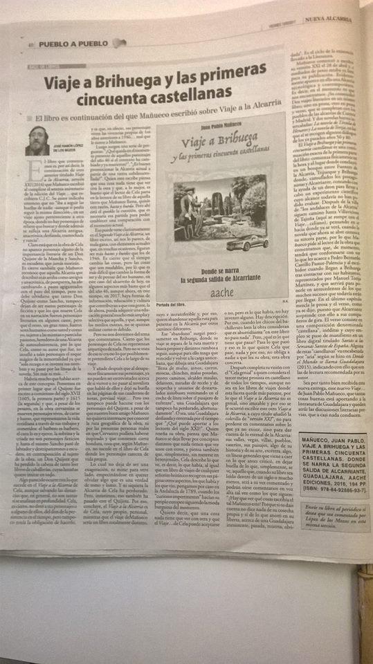 """Crítica a la novela """"Viaje a Brihuega y las primeras cincuenta castellanas"""""""
