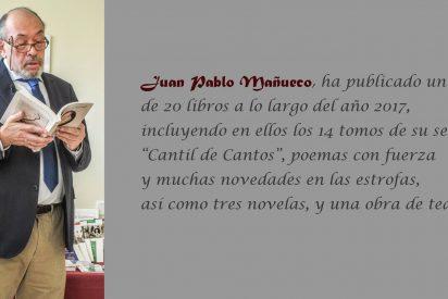 Unos poemas en cartulina de Mañueco