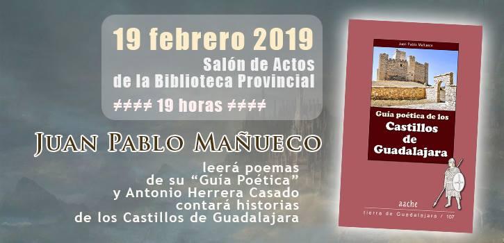 """Lectura poética """"Castillos de Guadalajara"""" en Biblioteca Dávalos"""