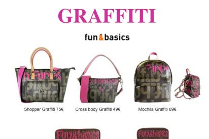 """Bolsos inspirados en el """"street art"""" de la línea Graffiti de fun&basics"""