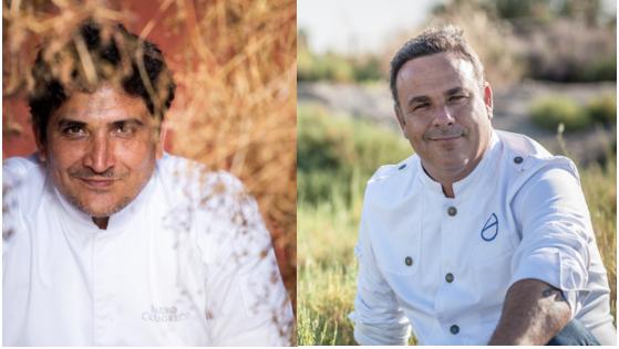 Chefs Angel Leon y Mauro Colagreco