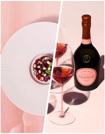 Laurent-Perrier Cuvée Rosé con copas