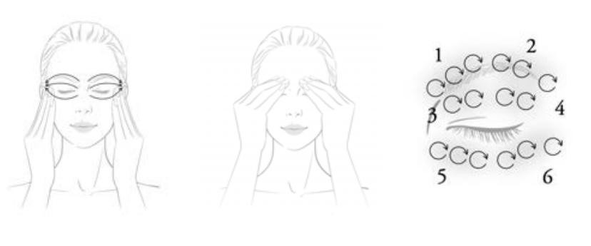 Sensai Meltry Rich Eye Cream aplicación