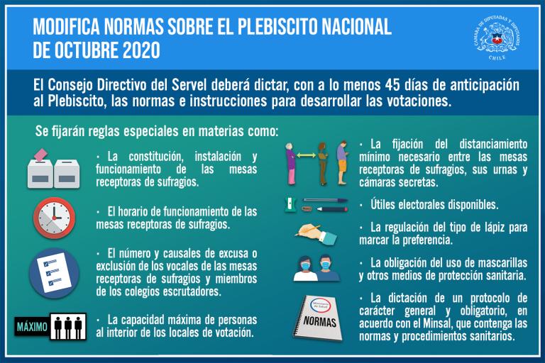 Reafirman plebiscito chileno con protocolo sanitario